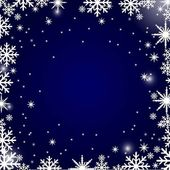 Christmas snowflakes background — Stock Vector
