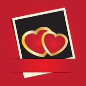 あなたのテキストのための心と場所でバレンタイン カード. — ストックベクタ