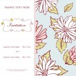 Vintage vector invitation card with floral pattern — Stock Vector #8953420