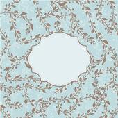 Cartão de convite de vetor vintage com padrão floral — Vetorial Stock