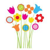 Tarjeta de invitación de vector vintage con flores — Vector de stock