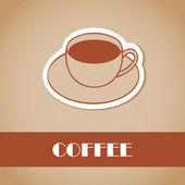 кофе. элементы для дизайна. векторные иллюстрации — Cтоковый вектор