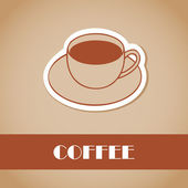 Kahve. tasarım öğeleri. vektör çizim — Stok Vektör