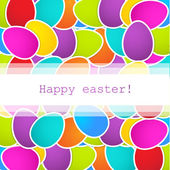 Easter background with multicolored eggs and place for your text — Stock Vector