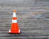 Warning Cone — Stock Photo