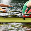 Royalty-Free Stock Photo: Rowing athletes in training