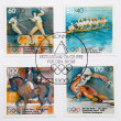 Post stamp dedicated to German olympic team in 1992 — Stock Photo