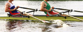 Гребля спортсменов в области подготовки кадров — Стоковое фото