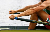 Rower in training — Stock Photo
