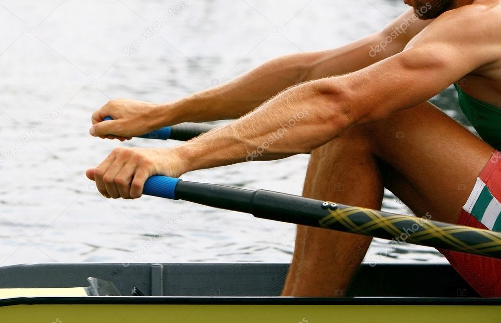 Rower in training — Stock Photo #9114394