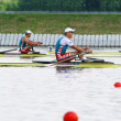 Stock Photo: Competition in rowing