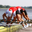 Rower in training — Foto Stock