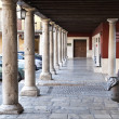 Tordesillas Plaza Mayor - Stock Photo