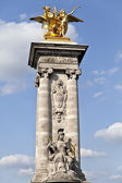 Paris Pont Alexandre III — Stock Photo