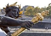 Paris Pont Alexandre III — Stock Photo