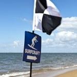Lifesaver Beach Flags — Stock Photo