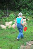 Giardiniere femmina. — Foto Stock