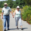 Couple walking together. — Stock Photo