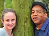 Interracial couple. — Stock fotografie
