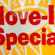 Move in special sign. — Stock Photo
