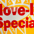 Move in special sign. — Foto de Stock