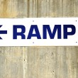 Ramp sign. — Stock Photo
