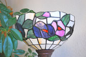 Stained glass lamp. — Stock Photo