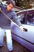 Автомобильный грабеж. — Стоковое фото