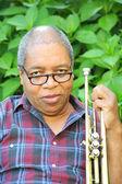 Trumpet player. — Stock Photo