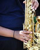 Joueur de saxophone. — Photo