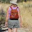 Female backpacker. — Stock Photo