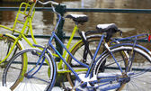Amsterdam bikes. — Stock Photo