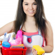 Stock Photo: Portrait of the girl - concept Cleaning