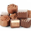 Tasty sweets from a milk chocolate — Stock Photo