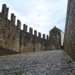Ruins of Bellinzona castle Montelbello, unesco world heritage in Bellinzona, Switzerland - Stock Photo