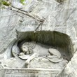 Stock Photo: Famous lion monument in lucerne
