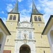 Luzerne - Hofkirche cathedral, Switzerland — Stock Photo #10573528
