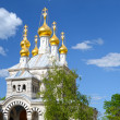 Dome of Russian orthodox church in Geneva - Stock Photo