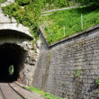 Railway tunnels. Used to transport goods - Stok fotoğraf