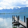 Wooden Dock in Geneva lake, Switzerland - ストック写真