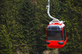 Funicular with a red cable car — Stock Photo