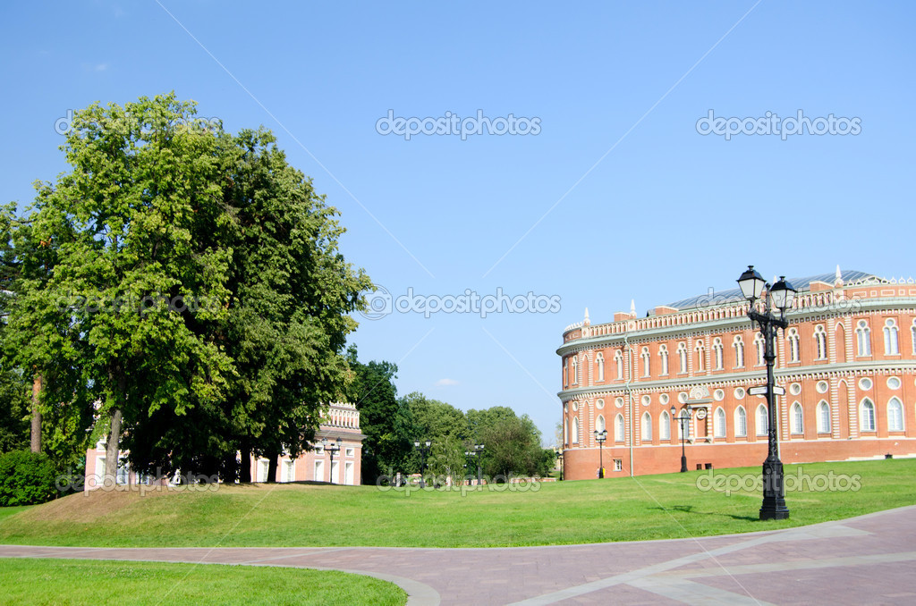 Palace of queen Ekaterina Second Great in Tsaritsino, Moscow, Russia — Stock Photo #8055837