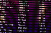 Schedule of flights at the airport — Stock Photo