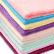 Stock Photo: The combined color towels