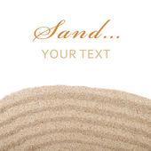 Espalhamento da areia — Foto Stock