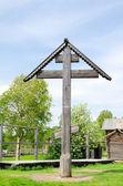 The big wooden cross — Stock Photo