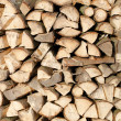 Woodpile of fire wood - Stock Photo