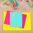 Close-up of multi-colored paper clips — Stock Photo