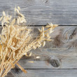 Stock Photo: Oats Border over wooden background