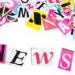 Word NEWS from newspaper letters — Stock Photo
